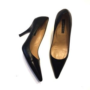 Claudia Ciuti Black Leather Heel Size 7.5